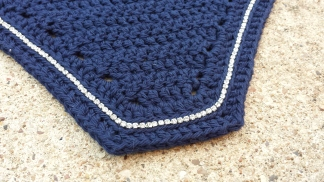 Navy with a single row of crystals